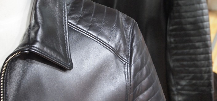 Leather jacket style David-Collar