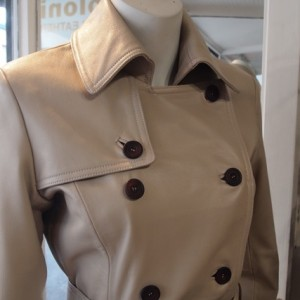 Joloni Leather Trench Coat Made in Melbourne