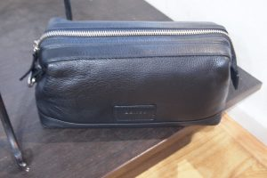 Dents Men's Leather Wash Bag