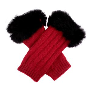 Dents Winter knit Collection – 'Fur Wrist Warmers' Style 6-4217