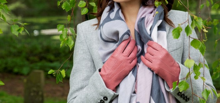Dents light weight scarves Style 4-2829 Blush