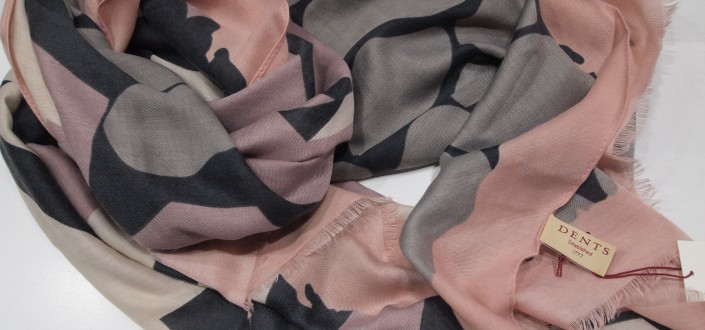 Dents  Grey/Blush scarf style 4-2828